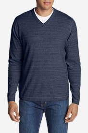Men's Talus V-Neck Sweater in Blue