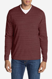 Men's Talus V-Neck Sweater in Orange