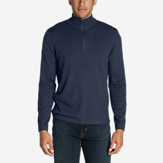 Men's Talus 1/4-Zip Sweater in Blue