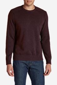 Men's Signature Cotton Crew Sweater in Blue