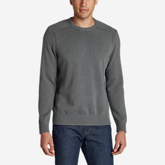 Men's Signature Cotton Crew Sweater in Gray