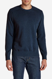 Men's Signature Cotton Crew Sweater in Blue