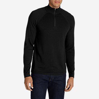Men's Catalyst VILOFT/Cashmere 1/4-ZIp Sweater in Black