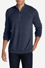 Men's Catalyst VILOFT/Cashmere 1/4-ZIp Sweater in Blue