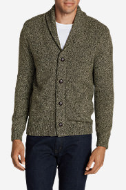 Men's Interlodge Cardigan Sweater in Brown