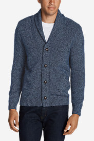 Men's Interlodge Cardigan Sweater in Blue
