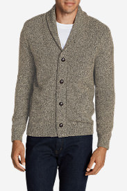 Men's Interlodge Cardigan Sweater in Beige