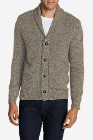 Men's Interlodge Cardigan Sweater in Beige