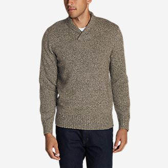Men's Interlodge Pullover Sweater in Beige