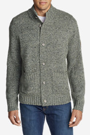 Men's Interlodge Mock Cardigan in Gray