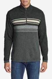 Men's Ski Stripe 1/4-Zip Sweater in Gray
