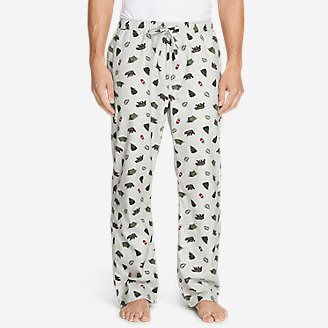 Men's Flannel Sleep Pants in Beige