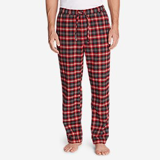 Men's Flannel Sleep Pants in Orange
