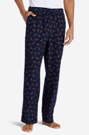 Men's Flannel Sleep Pants in Blue
