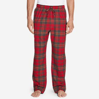 Men's Flannel Sleep Pants in Red