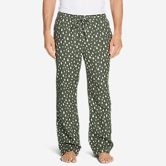 Men's Flannel Sleep Pants in Green