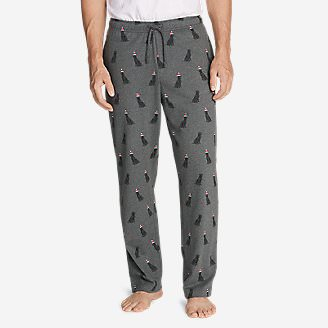 Men's Legend Wash Jersey Sleep Pants - Print in Gray