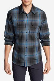 Men's Eddie Bauer Expedition Flannel Shirt in Gray