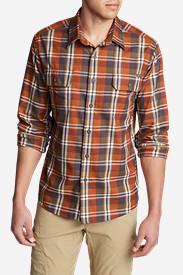 Men's Eddie Bauer Expedition Flannel Shirt in Orange
