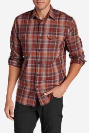 Men's Eddie Bauer Expedition Flannel Shirt in Brown