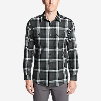 Men's Eddie Bauer Expedition Performance Flannel Shirt in Black