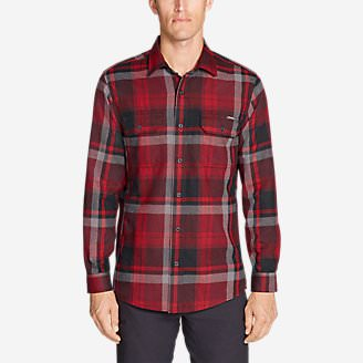 Men's Eddie Bauer Expedition Performance Flannel Shirt in Red