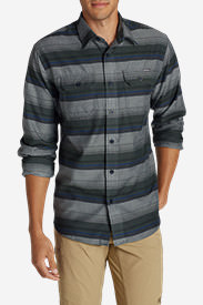 Men's Eddie Bauer Expedition Flannel Shirt in Gray