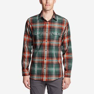 Men's Eddie Bauer Expedition Flannel Shirt in Blue