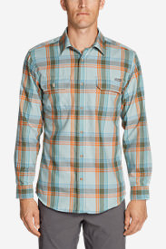 Men's Eddie Bauer Expedition Performance Flannel Shirt in Green