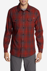 Men's Eddie Bauer Expedition Flannel Shirt in Red