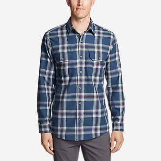 Men's Eddie Bauer Expedition Performance Flannel Shirt in Blue