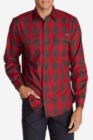 Men's Eddie Bauer Expedition Flannel Shirt in Red