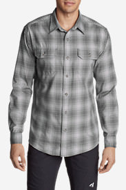 Men's Eddie Bauer Expedition Performance Flannel Shirt in Gray