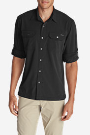 Men's Departure Long-Sleeve Shirt in Black