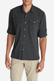 Men's Departure Long-Sleeve Shirt in Gray