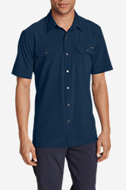 Men's Departure Short-Sleeve Shirt in Blue