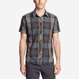 Men's Greenpoint Short-Sleeve Shirt in Brown