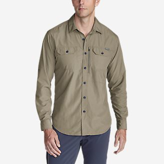 Men's Atlas Exploration Long-Sleeve Shirt in Beige