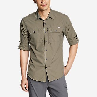 Men's Atlas Exploration Long-Sleeve Shirt in Green