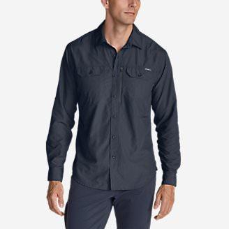 Men's Atlas Exploration Long-Sleeve Shirt in Blue