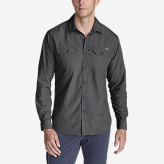 Men's Atlas Exploration Long-Sleeve Shirt in Gray