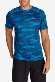Men's Resolution Mesh T-Shirt - Print in Blue