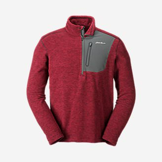 Men's Cloud Layer Pro 1/4-Zip Pullover in Red