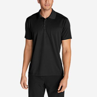 Men's Resolution Short-Sleeve Polo Shirt in Black