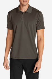 Men's Resolution Short-Sleeve Polo Shirt in Beige