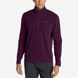 Men's Quest Fleece 1/4-Zip Pullover in Red