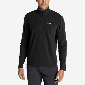 Men's Quest Fleece 1/4-Zip Pullover in Black