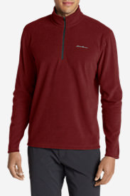 Men's Quest Fleece 1/4-Zip Pullover in Orange