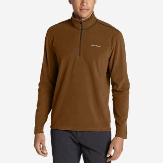 Men's Quest Fleece 1/4-Zip Pullover in Brown