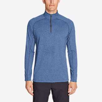 Men's Resolution Long-Sleeve ¼-Zip in Blue